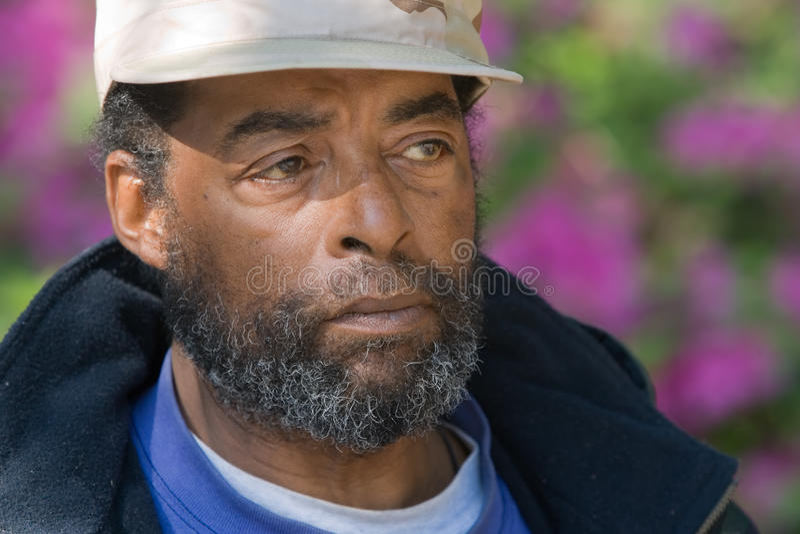 Älterer Afroamerikaner-Mann lizenzfreie stockbilder