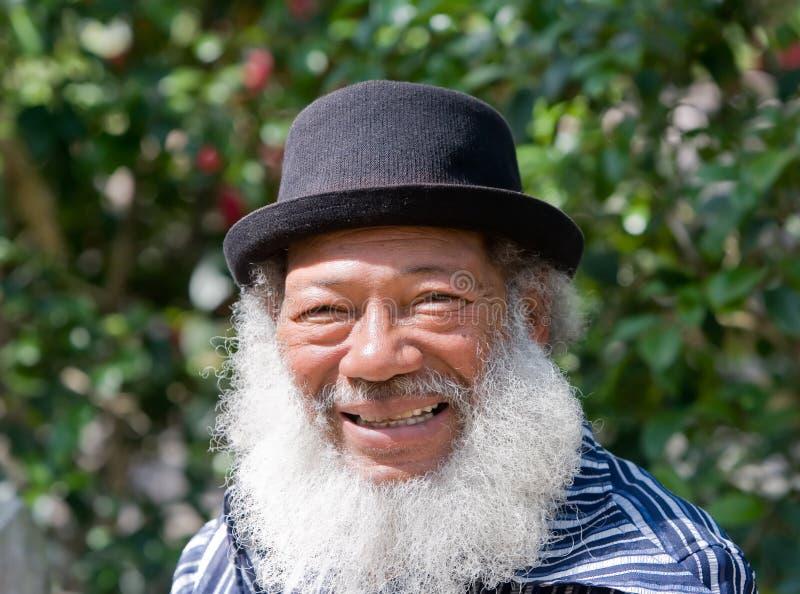 Älterer Afroamerikaner-Mann stockfotografie