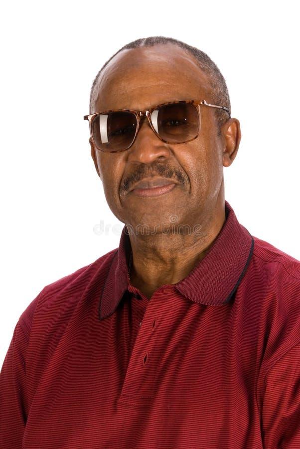 Älterer Afroamerikanermann. lizenzfreie stockfotografie