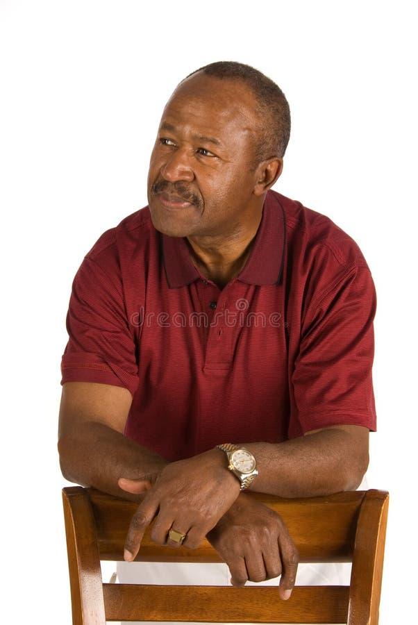 Älterer Afroamerikanermann lizenzfreie stockfotos