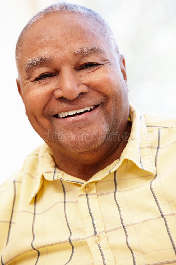 Älterer Afroamerikanermann stockbild