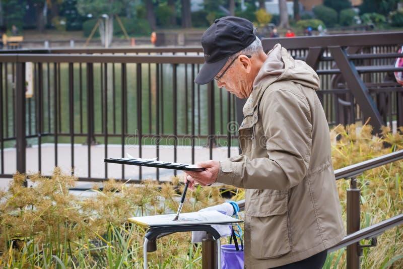 Älterer Bürger in Tokyo stockbilder