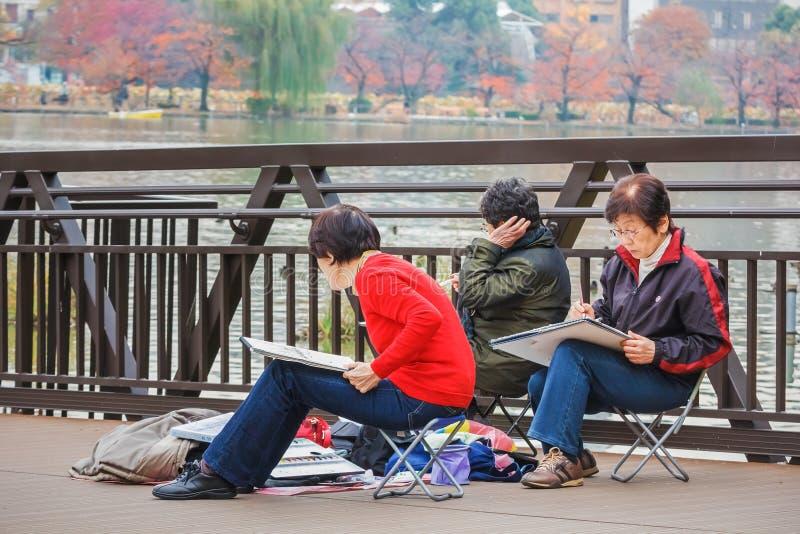 Älterer Bürger in Tokyo stockfotos