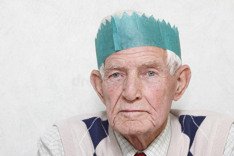 Älterer an der Party stockfotos