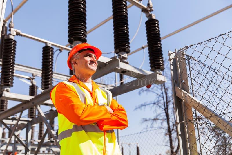 Älterer Energietechniker lizenzfreie stockfotos