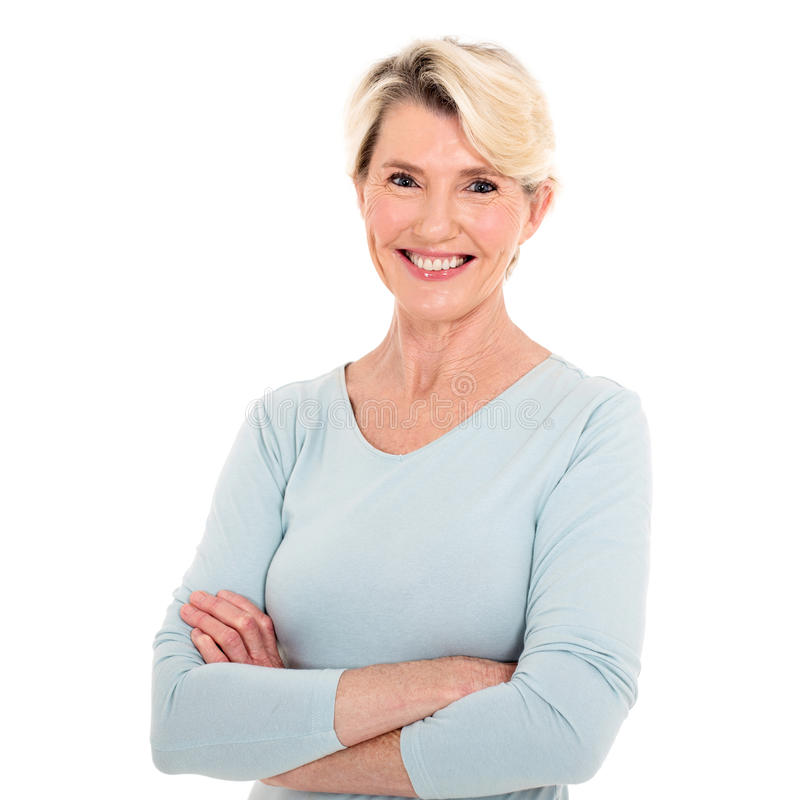 Älterer Frauenabschluß oben lizenzfreie stockbilder