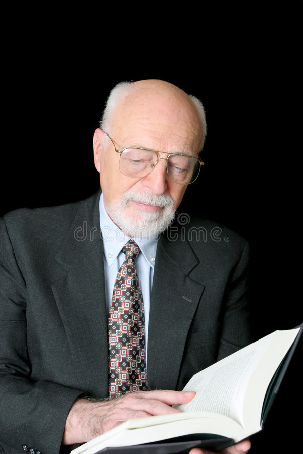 Älterer Gelehrter stockfotos