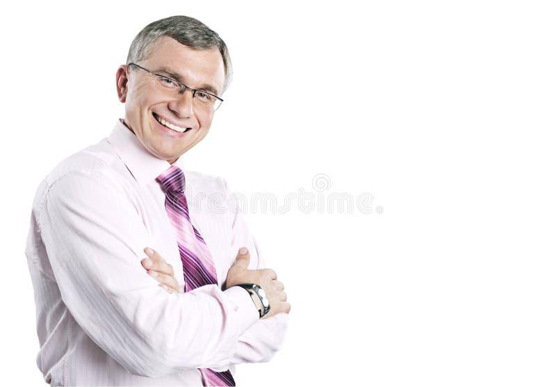 Älterer Geschäftsmann lizenzfreie stockbilder