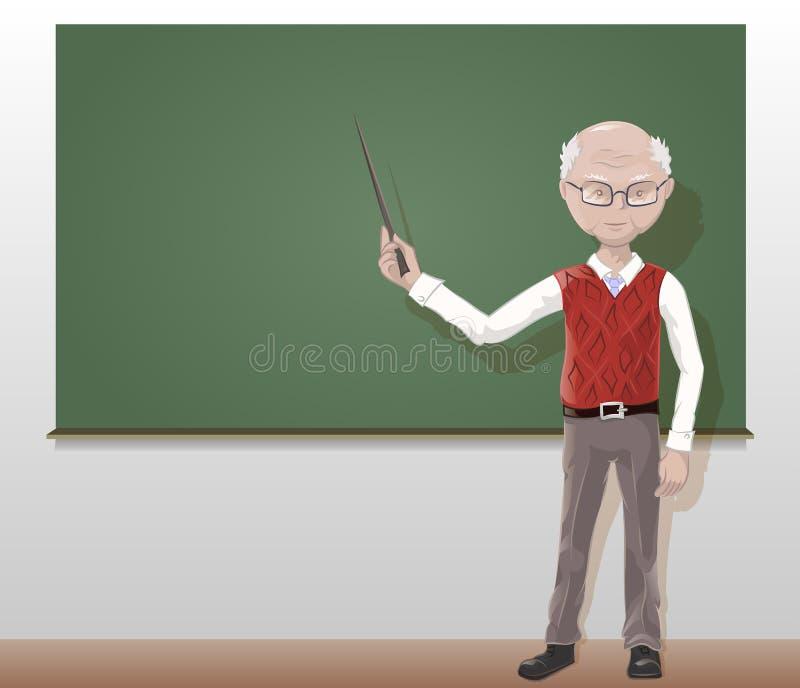 Mädchen Älterer Lehrer Junges Junge Frau