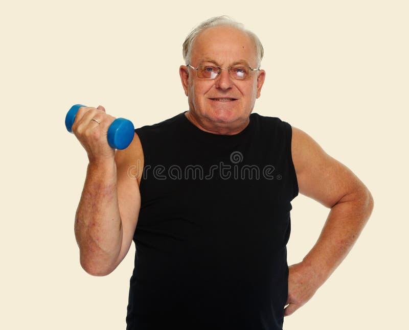 Älterer Mann mit Dummkopf lizenzfreie stockfotos