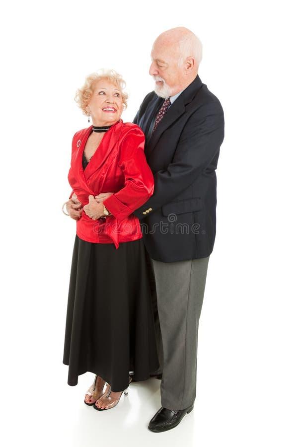 Älterer romantischer Tanz stockbild