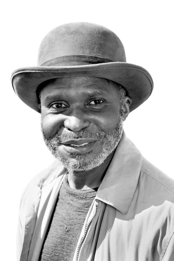 Älterer schwarzer Mann stockbild