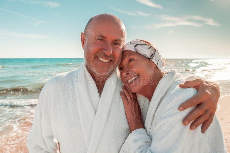 Älterer Sommerbadekurort stockbilder