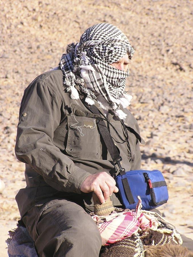 Älterer Tourist auf Kamel 2 stockbilder