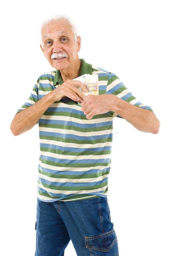 Älterer und Euro lizenzfreie stockfotografie