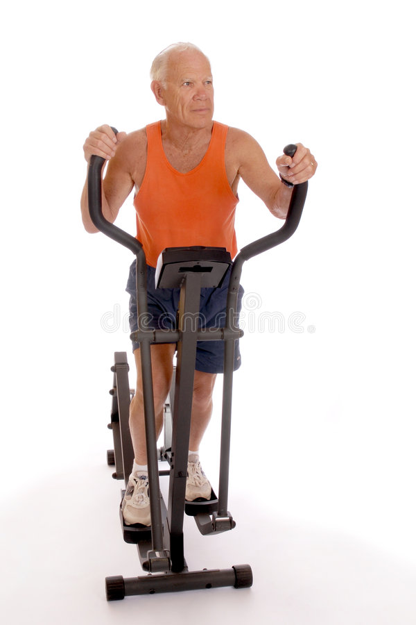 Älterer Work-Out lizenzfreies stockbild