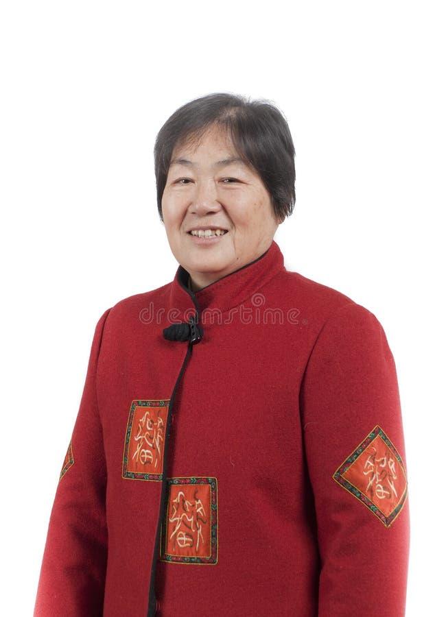 Älteres chinesisches Frauenportrait lizenzfreie stockfotografie