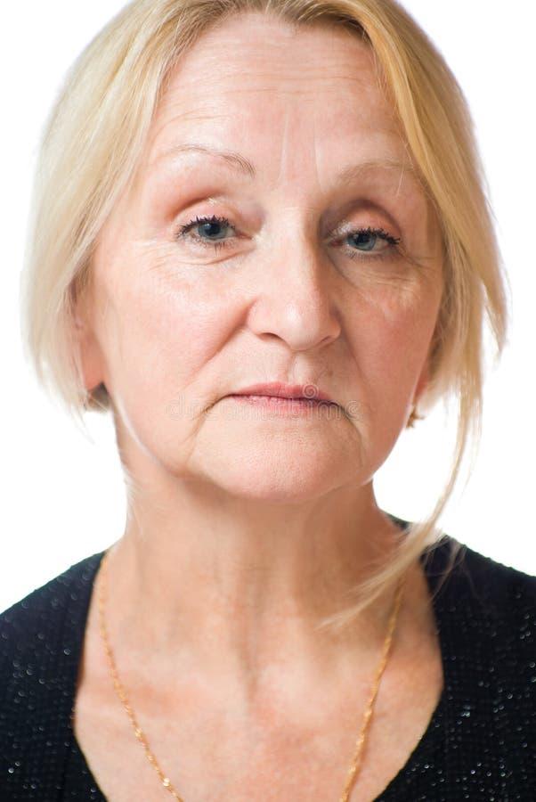 Älteres Dameportrait stockbild