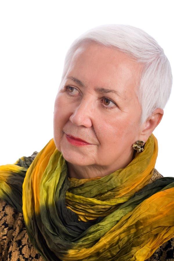 Älteres Frauen-Portrait lizenzfreie stockfotografie