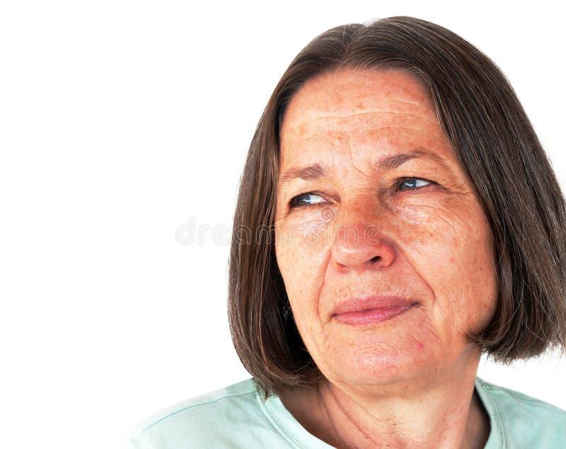 Älteres Frauen-Portrait stockbilder