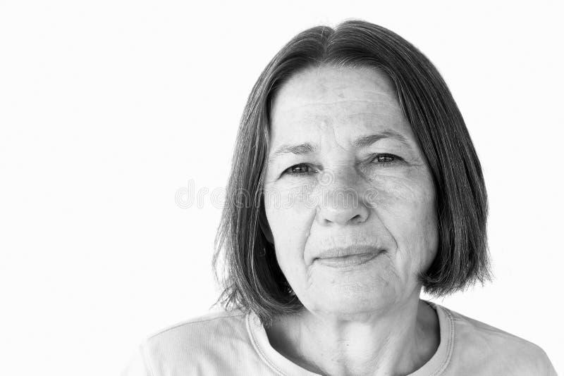 Älteres Frauen-Portrait stockfotografie
