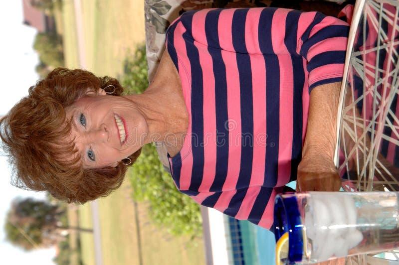 Älteres Frauenportrait stockfotos