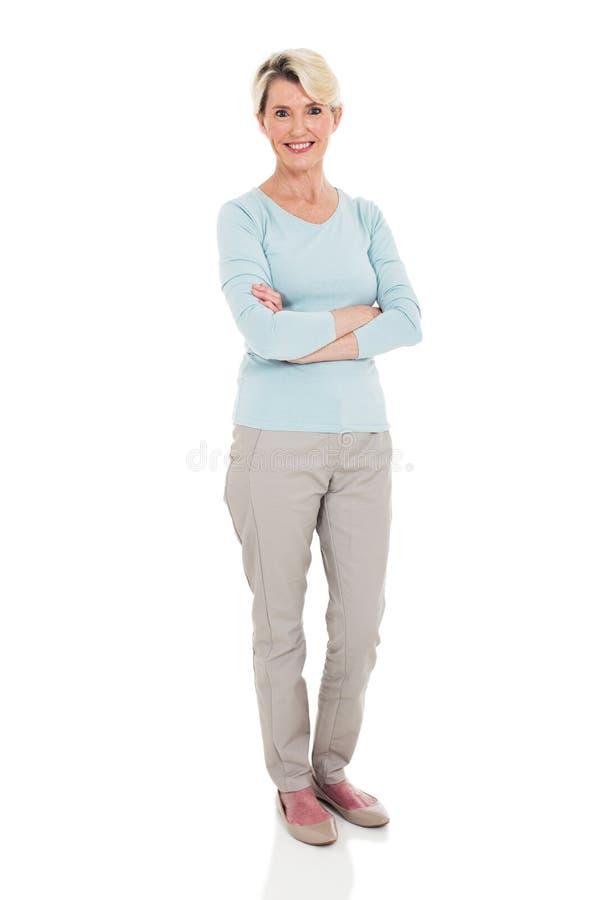 Älteres Frauenweiß lizenzfreies stockbild