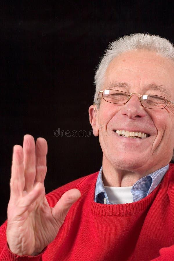 Älteres Lachen stockbild