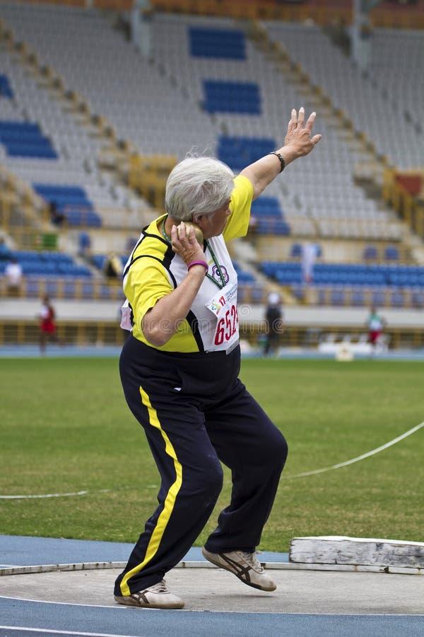 Download Älteres Leichtathletikspiel Redaktionelles Stockbild - Bild von bewegung, meister: 27727799