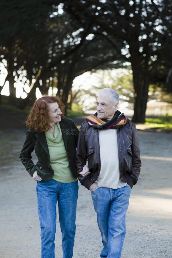 Älteres Paar-Gehen lizenzfreies stockbild