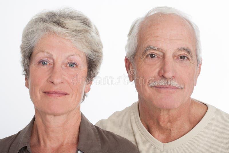 Älteres Paargesicht stockfotos