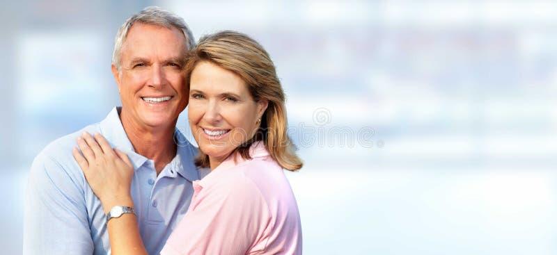 Älteres Paarlächeln stockfotos