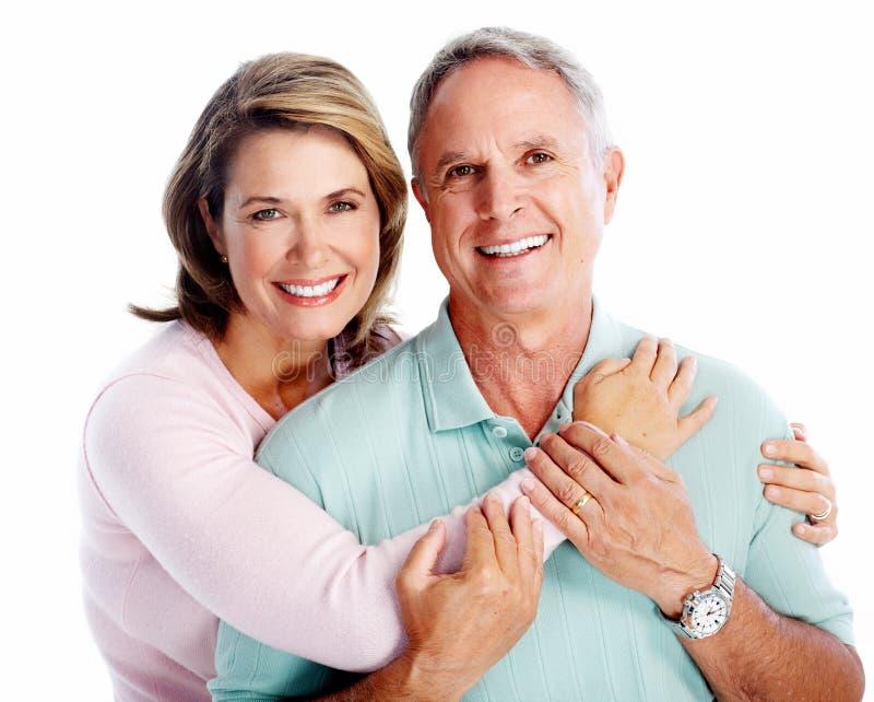 Älteres Paarporträt. lizenzfreies stockbild