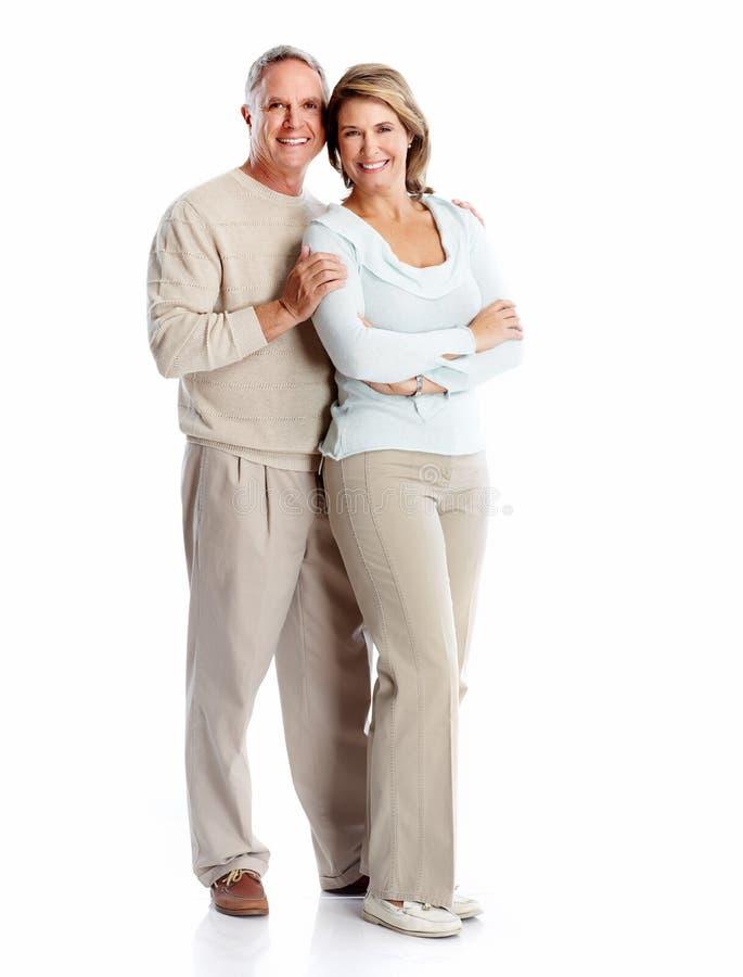 Älteres Paarporträt. lizenzfreie stockfotos