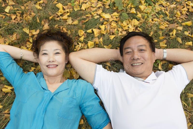 Älteres Paarporträt stockbilder