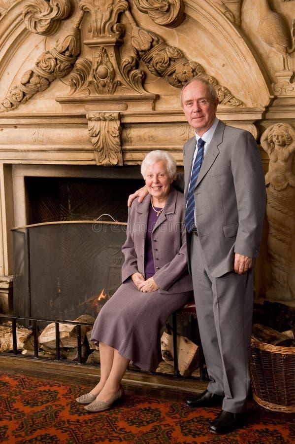 Älteres Paarportrait stockfoto