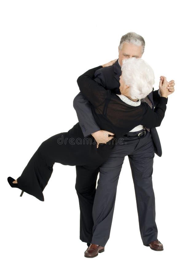 Älteres Paartanzen stockfotos