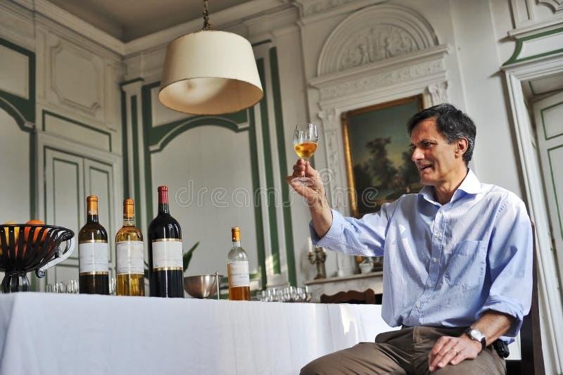 Älteres vinemaker lizenzfreie stockfotografie