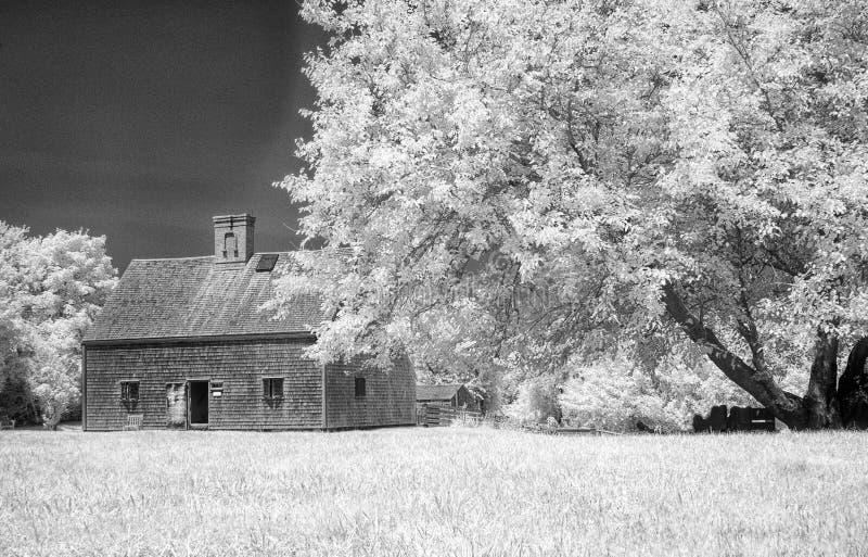 Ältestes Haus auf Nantucket lizenzfreie stockbilder