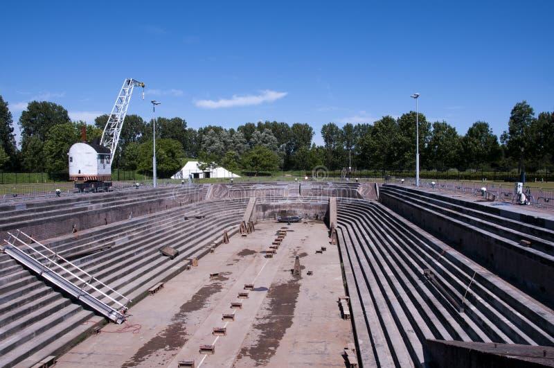 Ältestes trockenes Dock, das noch in Holland arbeitet stockbilder