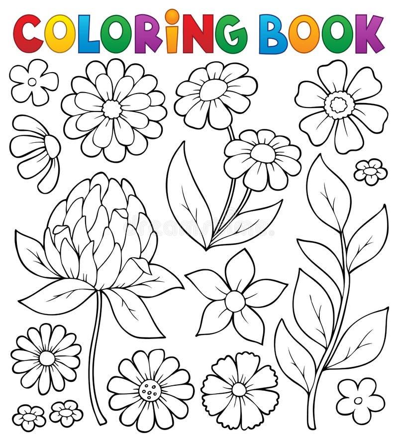 Ämne 8 för blomma för färgläggningbok vektor illustrationer