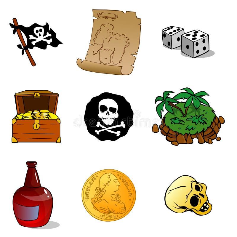ämne för corsair nio stock illustrationer
