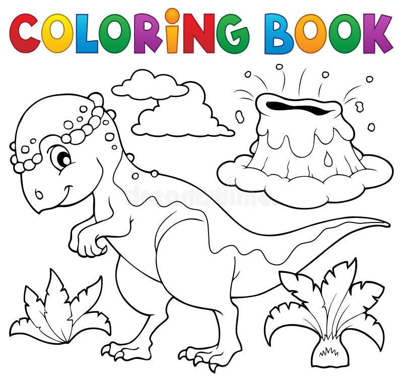 Ämne 5 för dinosaurie för färgläggningbok royaltyfri illustrationer