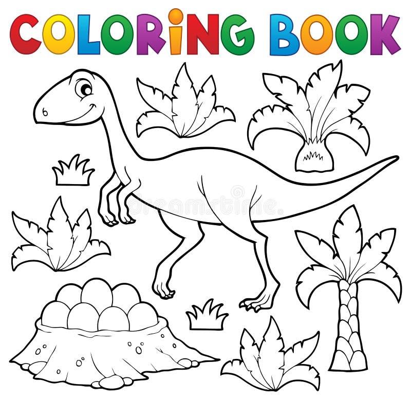 Ämne 4 för dinosaurie för färgläggningbok royaltyfri illustrationer
