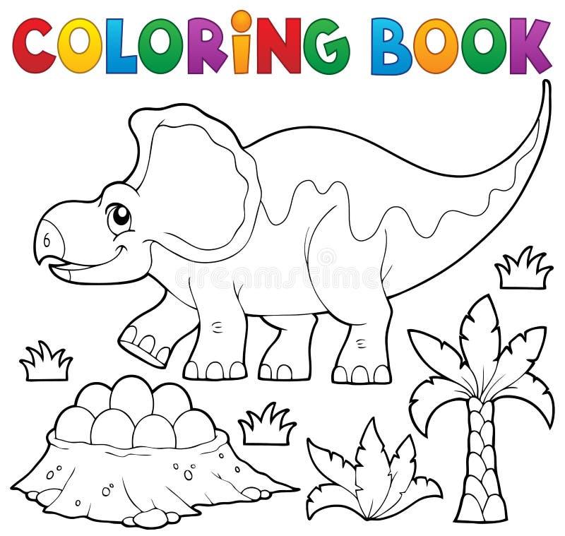 Ämne 3 för dinosaurie för färgläggningbok royaltyfri illustrationer