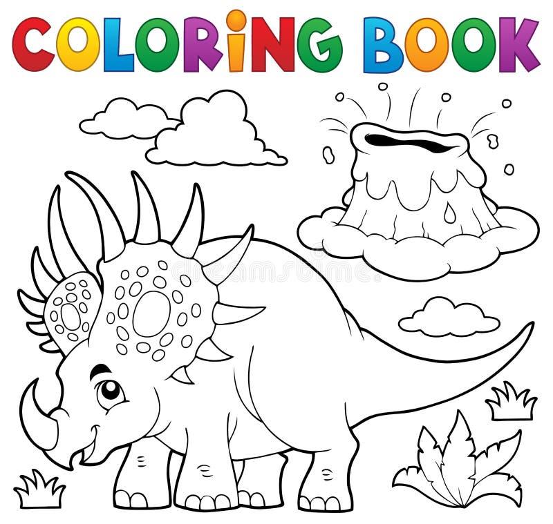 Ämne 2 för dinosaurie för färgläggningbok royaltyfri illustrationer