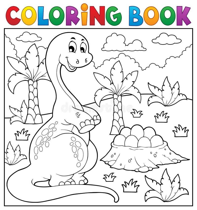 Ämne 8 för dinosaurie för färgläggningbok vektor illustrationer