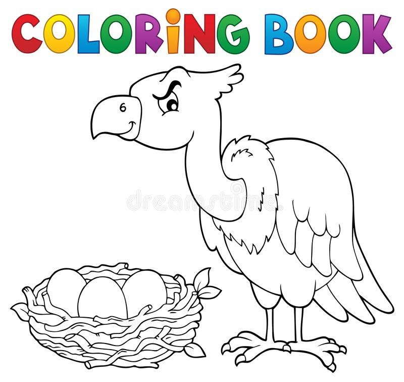 Ämne 2 för fågel för färgläggningbok stock illustrationer