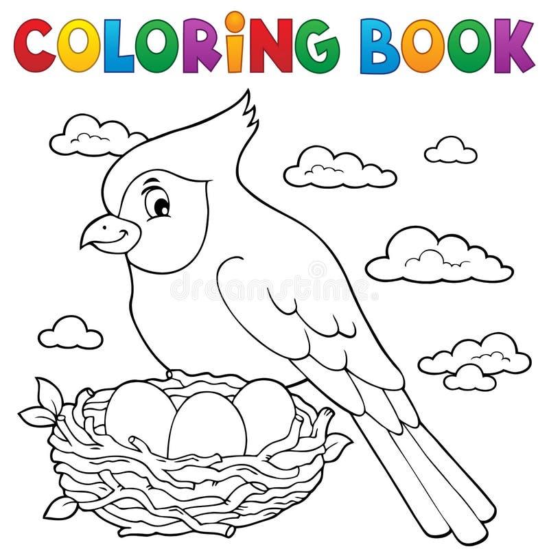Ämne 3 för fågel för färgläggningbok royaltyfri illustrationer