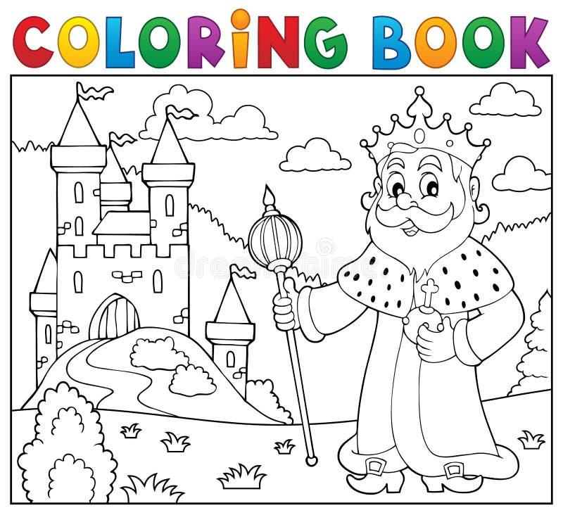 Ämne 2 för konung för färgläggningbok royaltyfri illustrationer